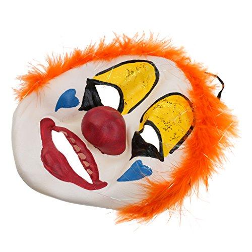 Jili Online Full Face Funny Clown Joker Jester Mask Costume Halloween Fancy Dress for Kids Adult]()