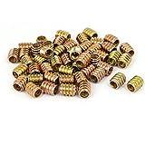 uxcell M8 x 15mm Wood Furniture Insert Screw E-Nut Bronze Tone 50pcs