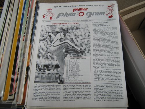 Phillies Phan O Gram 4 Issues (1976-1977 national league Eastern Division Champions, 12/76 , 2-2/77 , 4/77 , 12/77)
