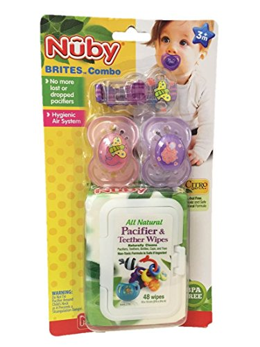 Nuby Brites Pacifier Wipes Combo