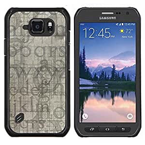 "Be-Star Único Patrón Plástico Duro Fundas Cover Cubre Hard Case Cover Para Samsung Galaxy S6 active / SM-G890 (NOT S6) ( Letras del alfabeto azul gris Random Moderno"" )"