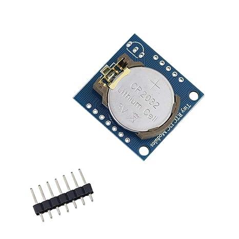 Elenxs RTC I2C Módulo w / 24C32 Memoria + DS1307 Reloj ...