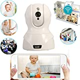 Edal Baby Monitor Wireless WiFi IP Surveillance Camera HD 720P Nanny Cam Video Recording Play/Plug Pan Tilt Remote Motion Detect Alert with Two-Way Audio and Infrared Night Vision