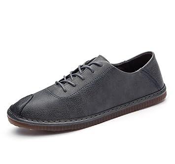 Beauqueen Mocasines de Negocios Casuales para Caballero Zapatos Suelas Antideslizantes de Goma Zapatos de conducción Bajos con Cordones Estilo Simple: ...