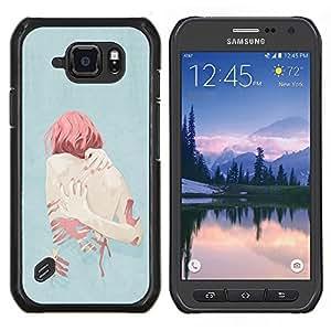 TECHCASE---Cubierta de la caja de protección para la piel dura ** Samsung Galaxy S6 Active G890A ** --Jengibre Depresión Heartbreak Sad