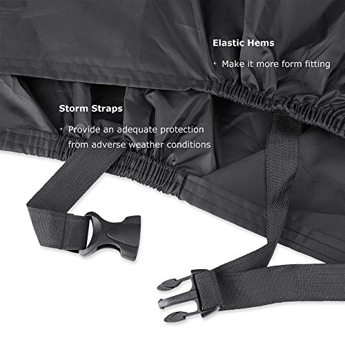 Bike Cover for 2 Bikes, Beeway 190T Nylon Waterproof Bicycle Cover Anti Dust Rain UV Protection for Mountain Bike / Road Bike with Lock-holes Storage Bag by  (Image #4)