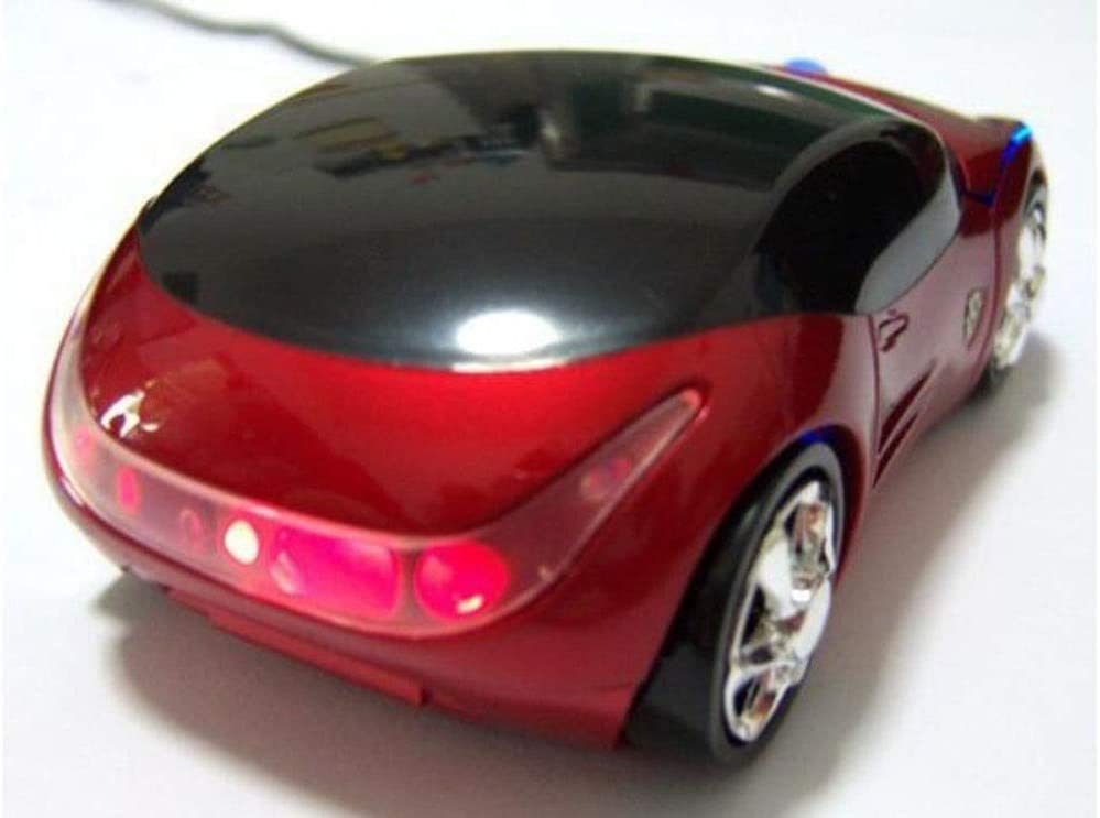 1PCS mouseNovel Wired car Mouse / USB red Wired Mouse 2.4G Stable Transmission Colorful Lights