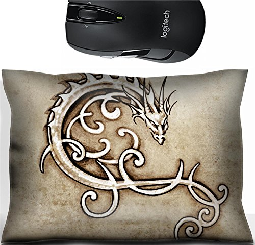 st Office Decor Wrist Supporter Pillow Sketch of tattoo art decorative dragon Photo 13028321 ()