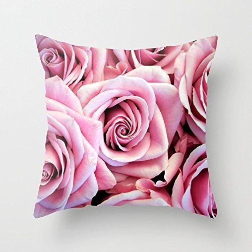 Hbesa - Funda de Almohada con diseño de Rosas Rosas: Amazon ...