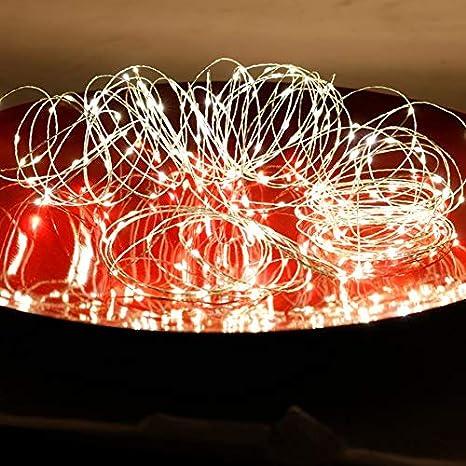 3//5//10m LED Lichterkette Micro Kupferdraht Drahtlichterkette Batterie Party Deko