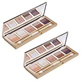 Italian Florentine Sunset Eyeshadow Palette - 85% natural 10 colors - set of 2