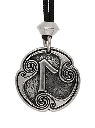 Fait à la Main Viking nordique Laguz Rune de l'intuition runique Pendentif en étain 21ème Lettre