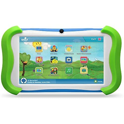 Sprout Channel Cubby 7 inch HD 16GB KidFriendly Tablet Preloaded Coupons