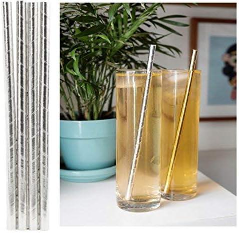 Amazon.com: Pajillas de papel biodegradables con rayas ...