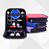 Fincos 26Pcs Travel Sewing Kit Bag Emergencies Filled Sewing Tools Storage Bag with Scissor Needle Thread - (Color: Black)