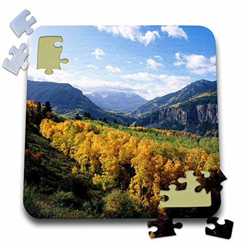- Danita Delimont - - USA, Colorado, San Juan Mountains Range with aspen trees in autumn - 10x10 Inch Puzzle (pzl_230426_2)