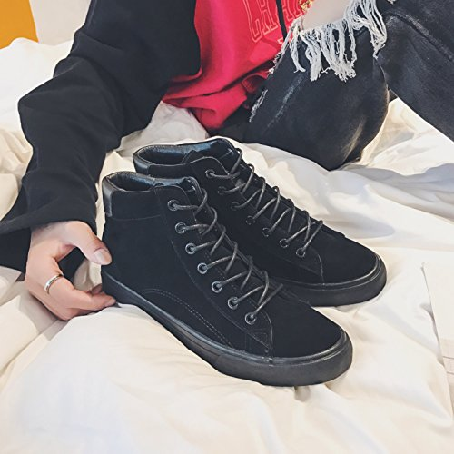 Help Leisure GUNAINDMX Shoes black Winter Black nbsp; Fashion Tie nbsp;High Fashion Forty 0wUIxgw