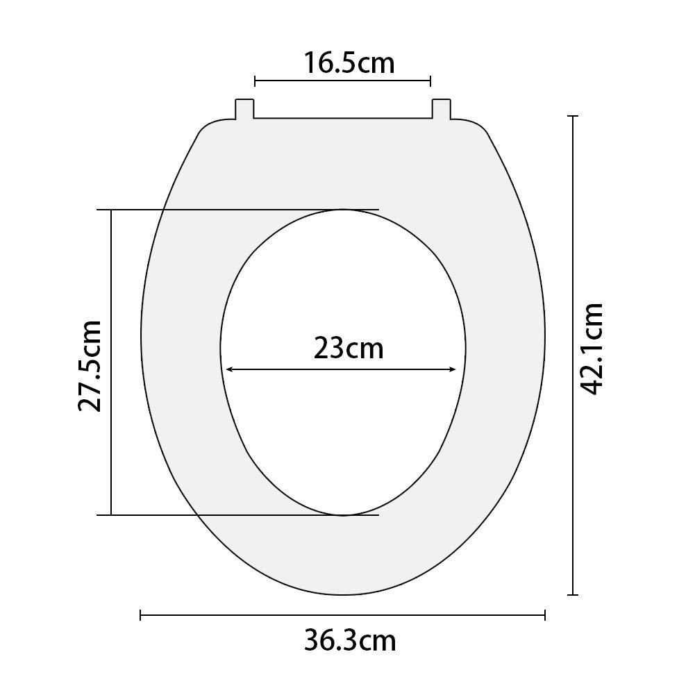 Goditi la vita JOTOM Sedile WC di Alta Qualit/à en PVC Facile da Installare e Pulire Bellissimo Sedile del Bagno Stampato Unica e Divertente