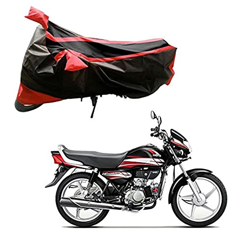 Adroitz Bike Body Cover For Hero Hf Deluxe Black And Red Amazon In Car Motorbike