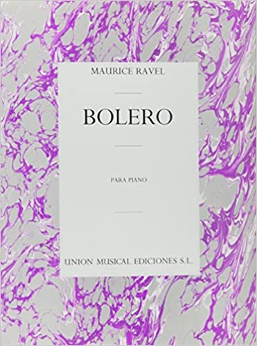 Bolero Piano Solo Maurice Ravel 0884088465445 Amazon Books
