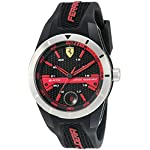 Ferrari 830253 'RED REV T' Quartz Resin and Silicone Watch