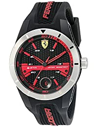 Ferrari Men's 830253 'Red Rev T' Quartz Resin and Silicone Watch