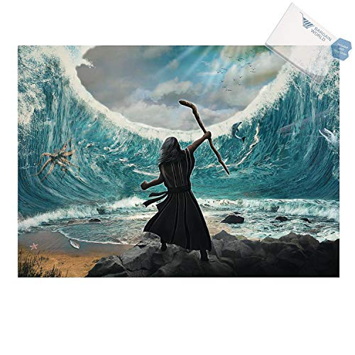 Moses Parting of the Red Sea Backdrop Banner (With Sticky Notes)]()