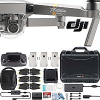 DJI Mavic Pro Platinum Fly More Combo with Custom Nanuk Waterproof Hard Case (Black)