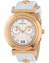 Versace Women's VA9030013 Vanity Chrono Rose Gold Ion-Plated  Stainless Steel Big Date Chronograph Watch