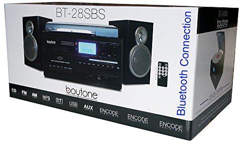 Boytone BT-28SBS, Bluetooth Classic Style Record Player Turntable with AM/FM Radio, Cassette Player, CD Player, 2 Separate Stereo Speakers, Record Vinyl, Radio, Cassette to MP3, SD Slot, USB, AUX by Boytone (Image #6)