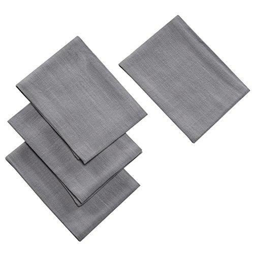 Jennice House Kitchen Dish Tea Cloth Towels Set (4 Pack) Cotton Linen Hand Towels Super Absorbant Terry Kitchen Tea Towels Dish Cloths (Grey)