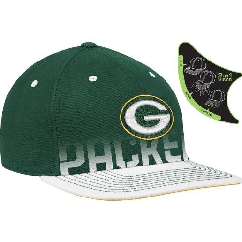 Reebok Green Bay Packers Youth 2010 Sideline Player Pro Shape Flat Brim Flex Hat Youth ()