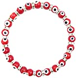 Best Spacers With Red Crystals - 2285 LuckyEye 6mm Red Murano Glass Bead Bracelet Review