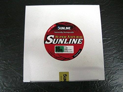 Cheap Sunline 63758972 Super Natural Jungle Green 16 lb Fishing Line, Jungle Green, 3300 yd