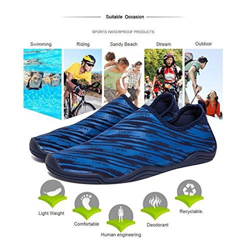 Surfschuhe Damen PingYou Strandschuhe Badeschuhe Herren Schwimm für Wasserschuhe Kinder 03blau FBgwZqB