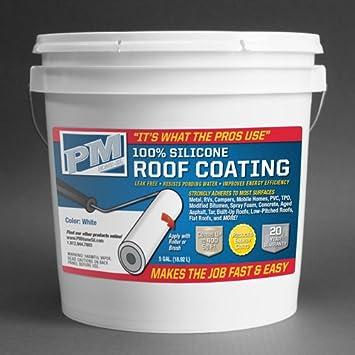 100 Silicone Roof Coating White 5 Gallon Amazon Com