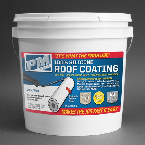 100% Silicone Roof Coating - White (5 Gallon) ()
