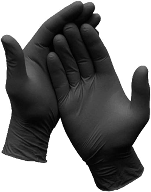 Textured 3 mil Box of 200 Disposable Latex Free BX3D46100-BX X3 Industrial Black Nitrile Gloves Large Powder Free