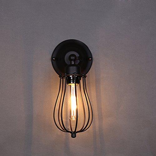 E27 Applique Murale à Lumière Rétro Metal Edison Applique Spot Mural