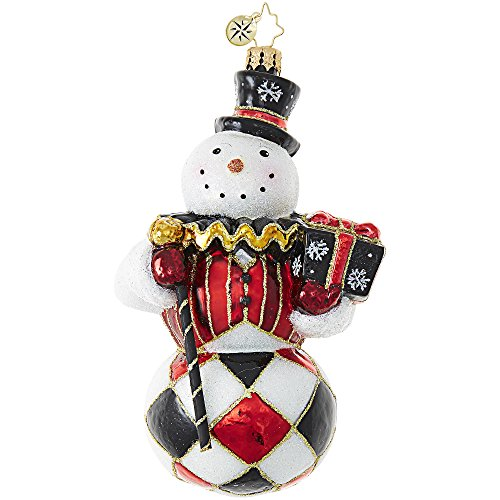 Radko Harlequin Snowman Bring on The Clowns Glass Ornament Made in Poland