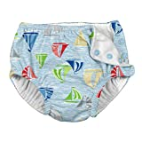i play. Baby Boys Snap Reusable Absorbent Swimsuit Diaper, Light Blue Sailboat Sea, 6 Months