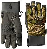 Under Armour Women's Hunt mid-Season Gloves, UA Forest Camo (940)/Metallic Beige, Small