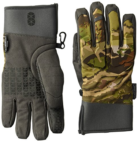 (Under Armour Women's Hunt mid-Season Gloves, UA Forest Camo (940)/Metallic Beige, Large )