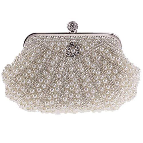Evening MMYOMI Crossbody Wedding Bridal Clutch Vintage Handbag 2 Bag Party Ladies Floral Beige Prom Beaded xSPxRrqT