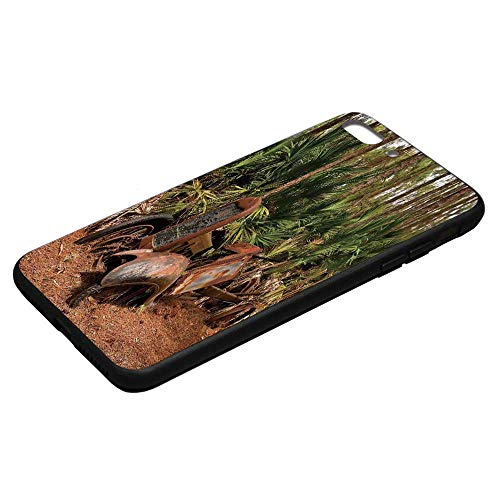 Rustic Home Decor Utility Phone Case,Rusty Tractor Mule Truck Deep in Forest with Tropical Palm Trees Image Compatible with iPhone 8 Plus, iPhone 8 Plus