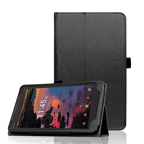 WFiveelectronics Alcatel A30 Tablet 8 ''Case, Slim Body, Advanced PU Leather Open Cover 8.0'' A30 (9024W) Model Tablet (Released 2017) (Black) by WFiveelectronics