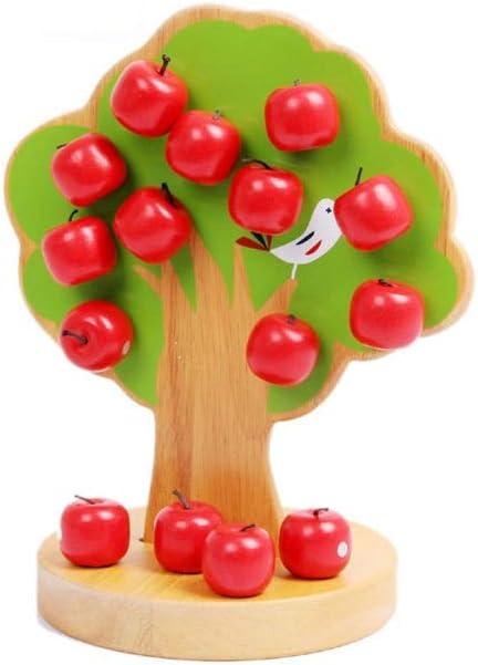 Árbol de Manzana de Estanque Natural, magnético, para enchufar y Jugar, Juguete de Madera para niños para Promover la motricidad a Partir de 3 años, Incluye Manzanas: Amazon.es: Juguetes y juegos