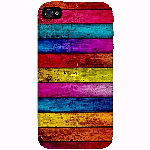 Coque Apple Iphone 4-4s - Bois multi colors