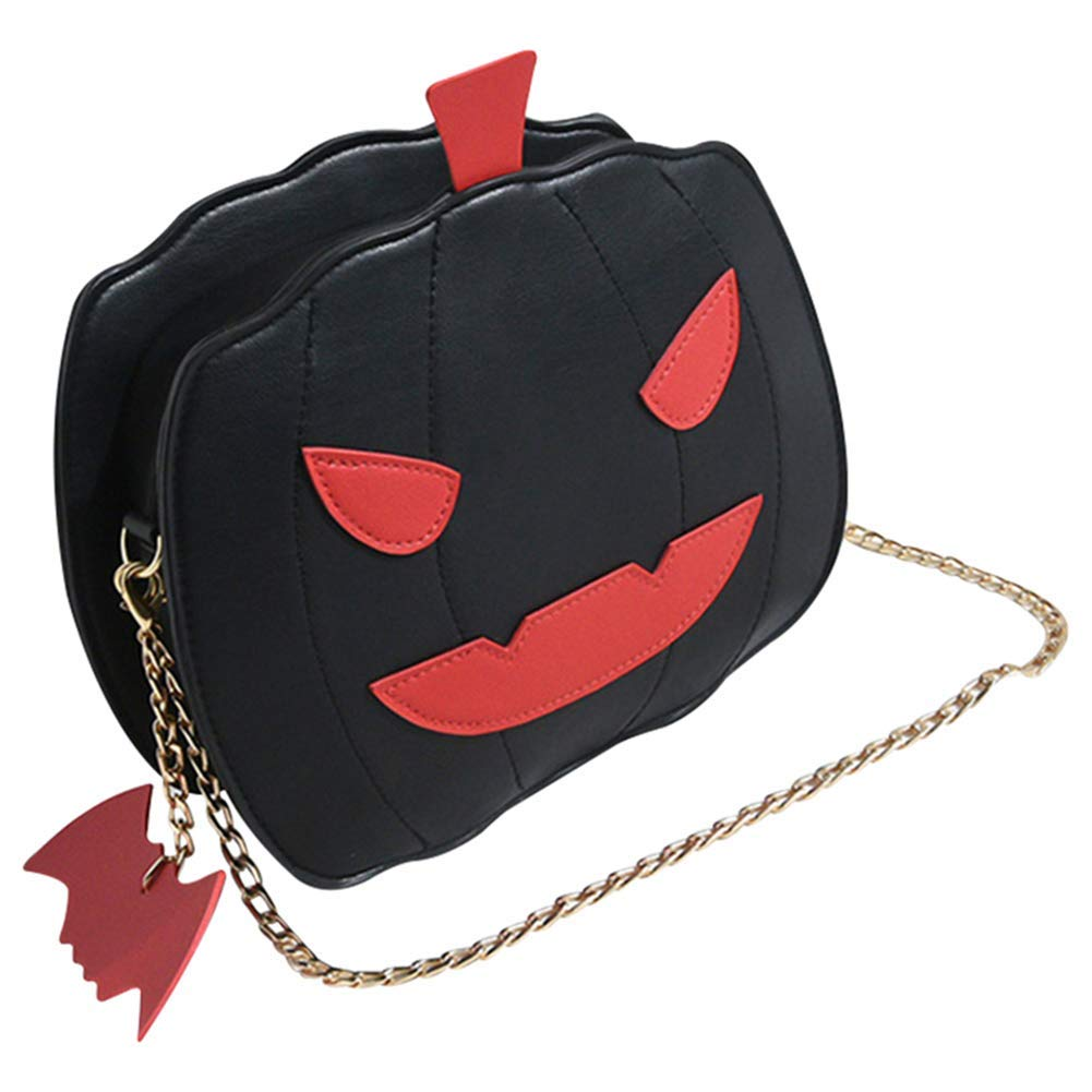 Halloween Pumpkin Crossbody Bag Women Handbag Tote Trick Or Treat Little devil Shoulder Messenger BagGirls Candy Bag