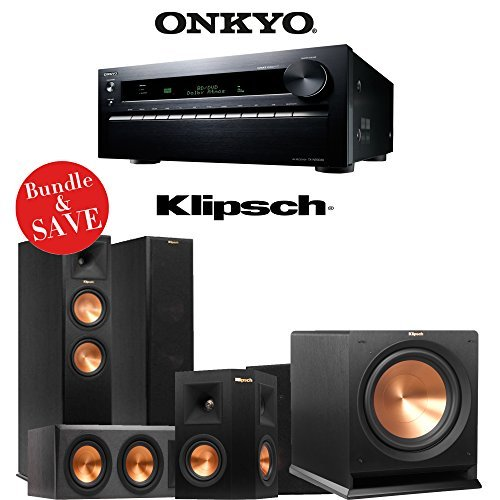 Pro Series Powered Subwoofer - Onkyo TX-NR3030 11.2-Ch Dolby Atmos Ready Networking A/V Receiver + A Klipsch Reference Premiere 5.1 Home Theater Bundle (RP-260F + RP-440C + RP-240S + R-112SW)
